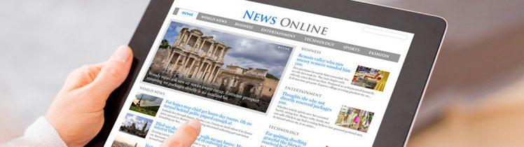 leggere news online con tablet